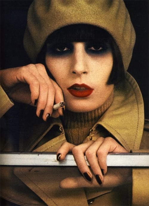 Anjelica Huston from her modeling days. Marie Claire magazine 1973. really?