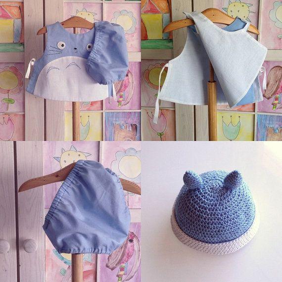 Totoro bambino 3 pezzo set set di 3 pezzi neonato di pipocass