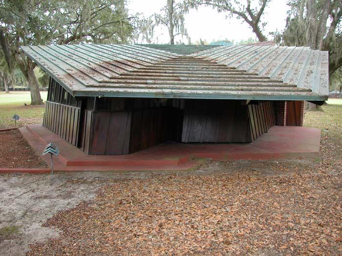 Auldbrass Plantation. Frank Lloyd Wright. 1940-51. Beaufort County, South Carolina, near the town of Yemassee