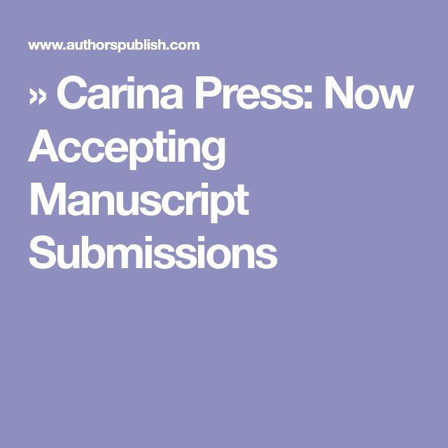 » Carina Press: Now Accepting Manuscript Submissions