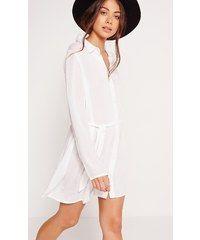 MISSGUIDED Lehoučké bílé shirt šaty