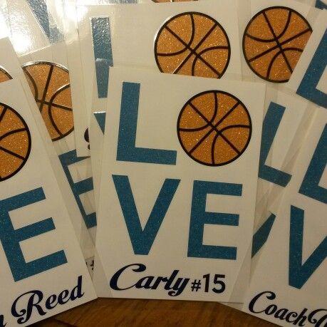 Basketball locker signs!
