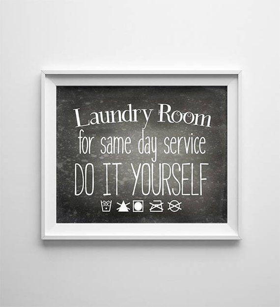 Instant Download 8x10 Printable Digital Art File Laundry Room