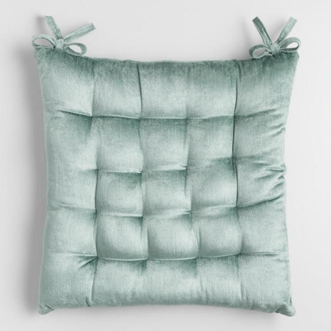 Boost The Beauty Of Your Dining Room Or Office Chair With Our Exclusive Mint Green Cushion Almofadas Para Cadeiras Cadeiras De Veludo