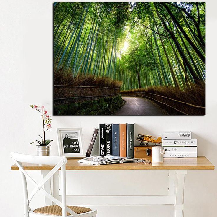 Large Size Green Forest Tall Trees Canvas Print | $12.17 | Best Deals Unique Decor | Rouse the Room