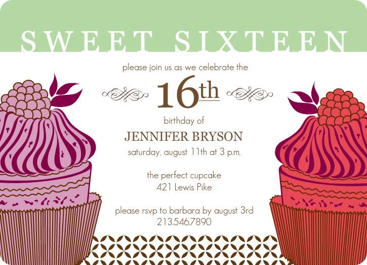 Best Sweet Sixteen Images On Pinterest Birthday Cards Color - Contoh invitation card sweet seventeen birthday party