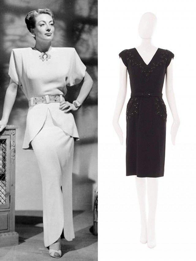 """1940s Defining Silhouette: Menswear-inspired tailored separates Best For: All body shapes  """"The Second World War had an enormous impact on '40s fashion, when women were managing businesses. Fancy clothes weren't being made, produced was a very lean, very tailored, quite austere look. If you don't have waistline, look at a lot of the '40s coats,more about volume and had a great deal of swing. Where the peplum really worked in the '40s was it tricked the eye of giving curves"""""""