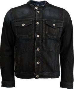 Wat een leuk spijkerjack voor mannen, je krijgt nu 36% korting op dit spijkerjasje #mannen #heren #mode #zwart #spijkerstof #jas #vest #mensfashion #black #denim #jacket #sale