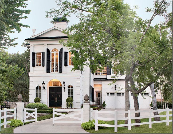 Federal Style House with simple white fence