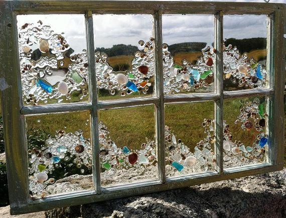 Sea Glass Wave Window by beachcreation on Etsy, $250.00
