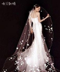依爱新娘2014新款新娘头纱优雅迷人