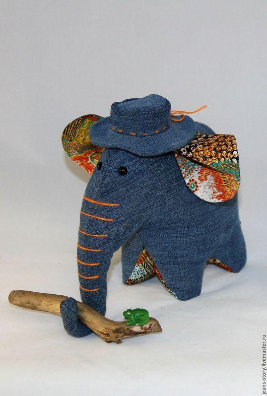 Игрушки животные, ручной работы. Ярмарка Мастеров - ручная работа. Купить Слон в шляпе. Handmade. Комбинированный, индийский слон, подарок