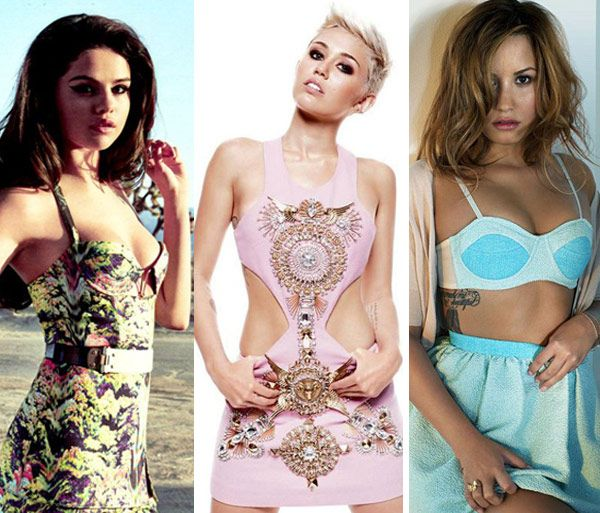 Selena Gomez, Miley Cyrus  Demi Lovato: 'Choice Hottie' Showdown