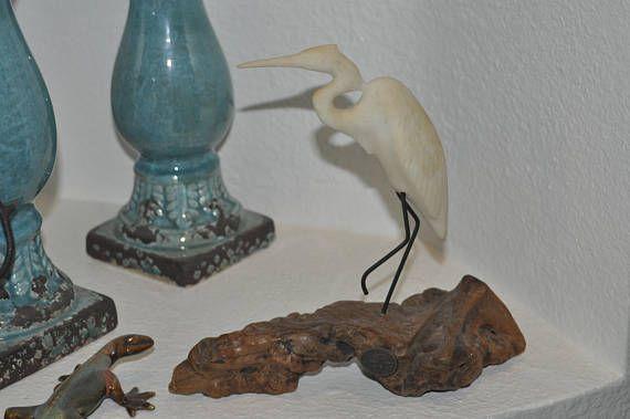 John Perry White Heron Sculpture