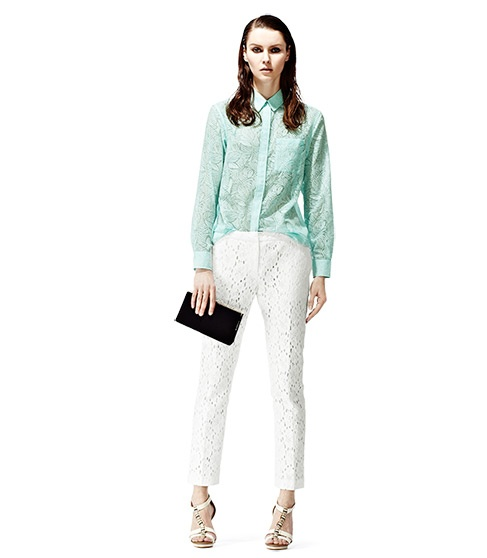 Love this pale mint oversized shirt from Reiss