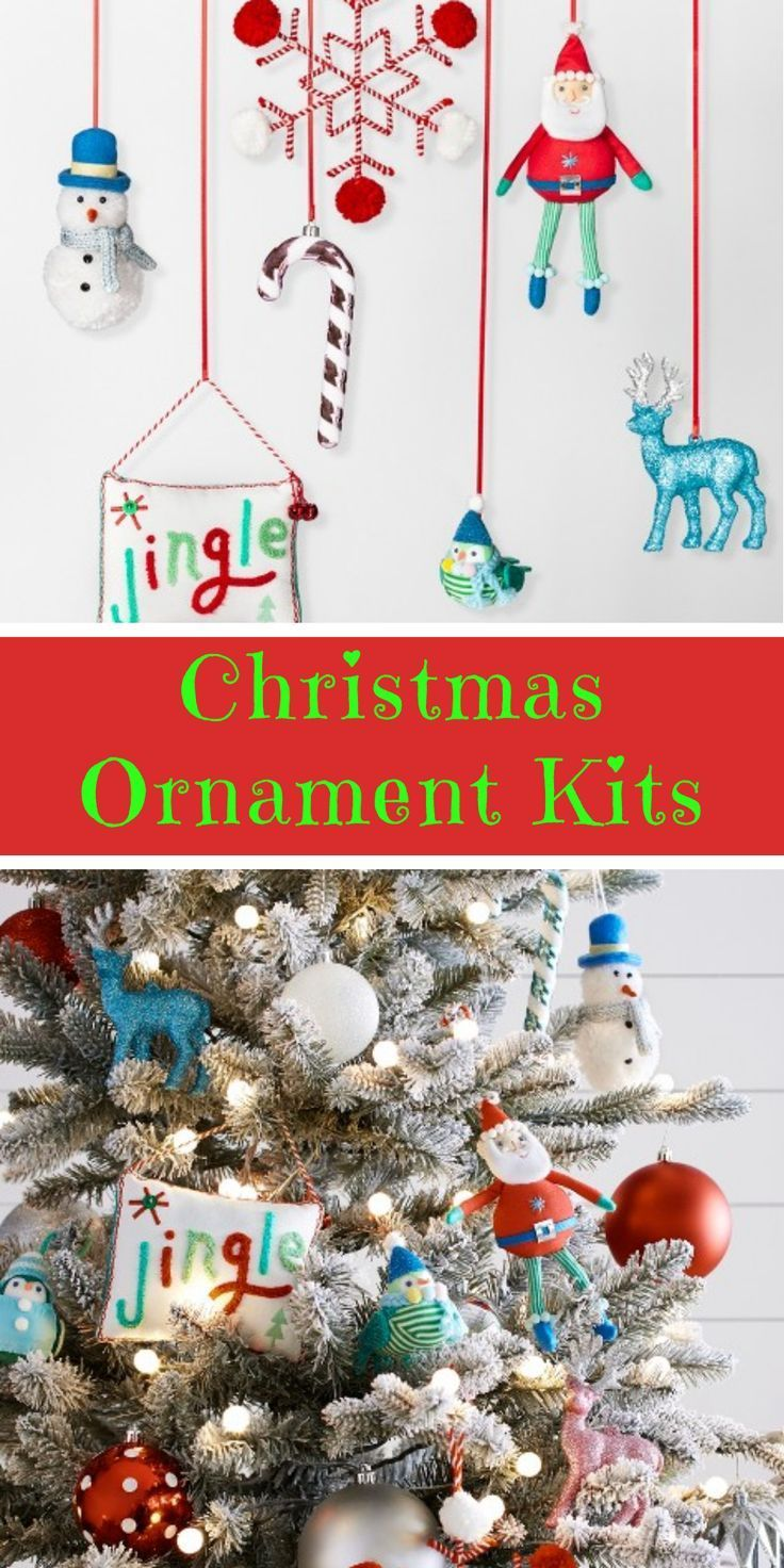 Online Only Christmas Tree Ornament Kits Everything You Need To Trim The Tree In One Kit S Christmas Tree Ornament Kits Ornament Kit Creative Christmas Trees