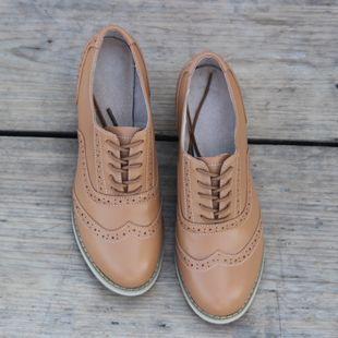Британские деньги хаки кожаные ботинки кожаные ботинки Баллок Оксфорд толщиной с желтым кожаной обуви в рот