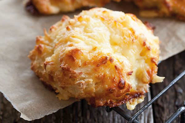 Three-ingredient cheese scones