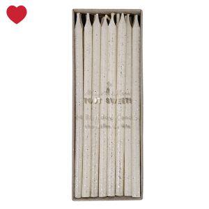 Meri Meri zilveren glitter taartkaarsjes 24 stuks Blow out the candles and make a wish!! Met deze Meri Meri taartkaarsjes creëer je in een ...