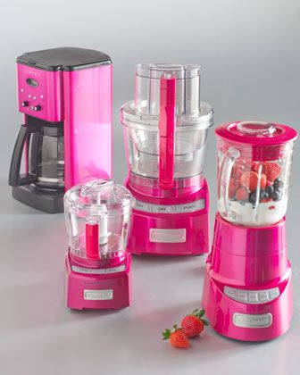 Cuisinart Metallic Pink Kitchen Appliances. So utterly ridiculous, I might love them!