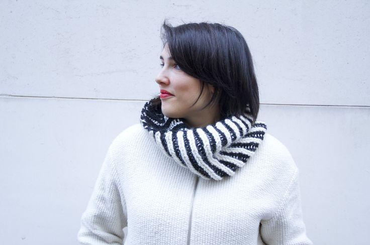 Le col brioche Black+White – Julypouce tricote