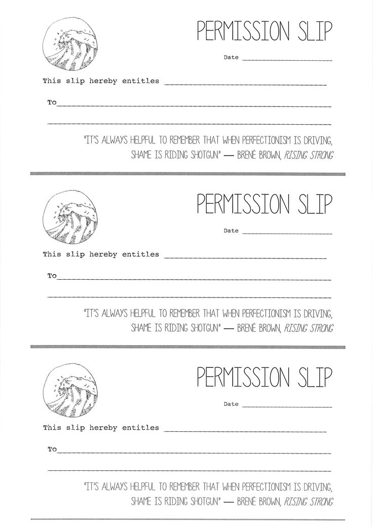9 best Permission Slips for Artists images on Pinterest Artists - permission slip template