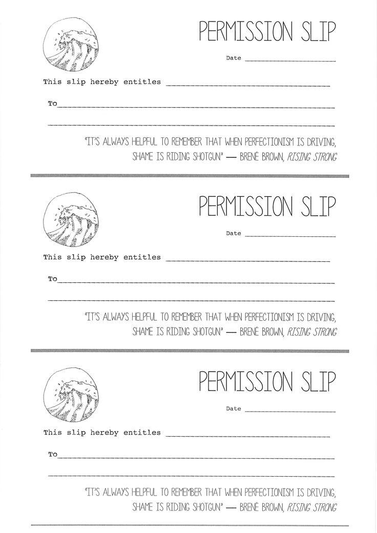 Best Permission Slip Samples Images On   Appreciation