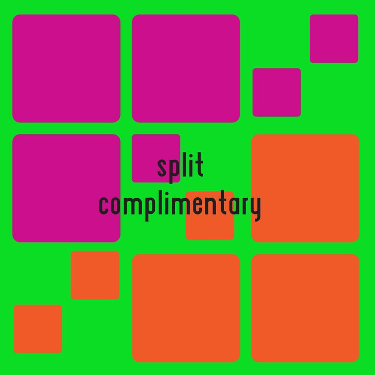 The Split Complementary Color Scheme Is A Variation Of It