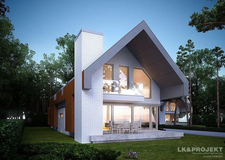 Projekty domów LK&Projekt LK&1097 wizualizacja 3