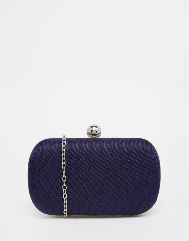 Chi Chi London Box Clutch Bag in Midnight Navy
