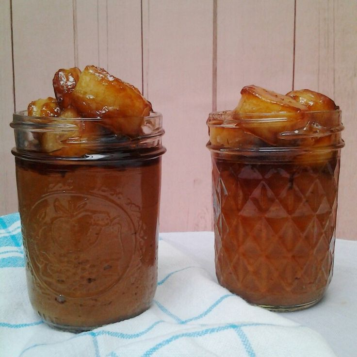 Butterscotch Pudding with Caramelized Bananas.