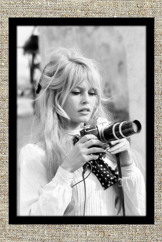 Brigitte Bardot photograph, vintage photo print, classic old Hollywood photograph, black and white print, retro wall decor, gift for her