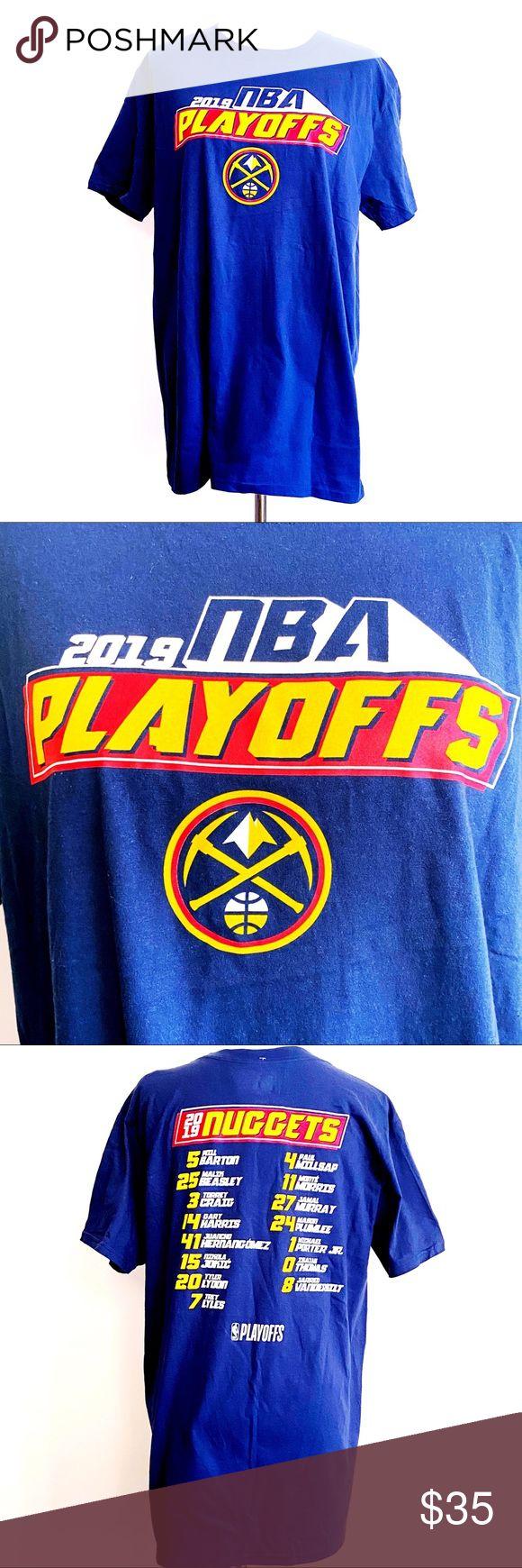 Denver Nuggets 2019 NBA Playoffs TShirt Shirt Top NWT in