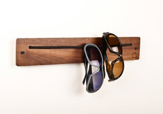 sunglasses storage rack