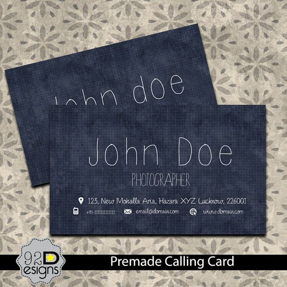 Instant Download  Creative Calling Card or Business by ONESMFA, $5.00