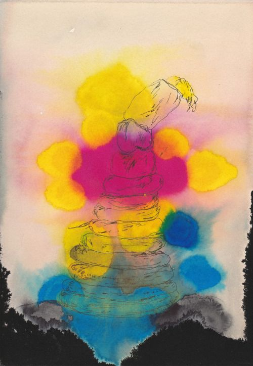 K. Gatavan. Pyramid. Watercolor, ink, pen, 2016. #Conceptual Art #концептуальное искусство #Arte concettuale #Art conceptuel #Arte conceptual #Konzeptkunst 👌✏️ - https://wp.me/p7Gh1Z-2h7 #kunst #art #arte #sztuka #ਕਲਾ #konst #τέχνη #アート