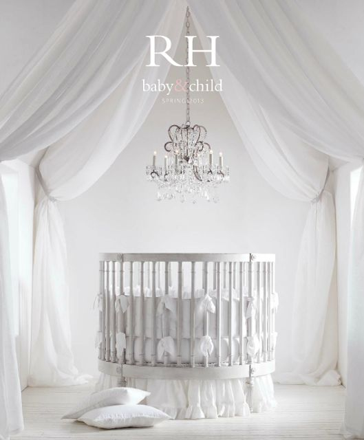 The Royal Nursery * O Quarto do Bebé Real  THIS is a great crib, although I might paint or stain it a different color, if I ever got it for my kid.