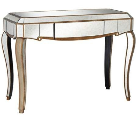 Antique Gold Mirrored Console Table | 55DowningStreet.com