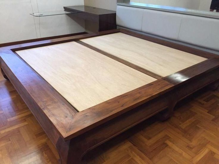 indonesian teak bed frame for sale in seletar yio chu kang image 1