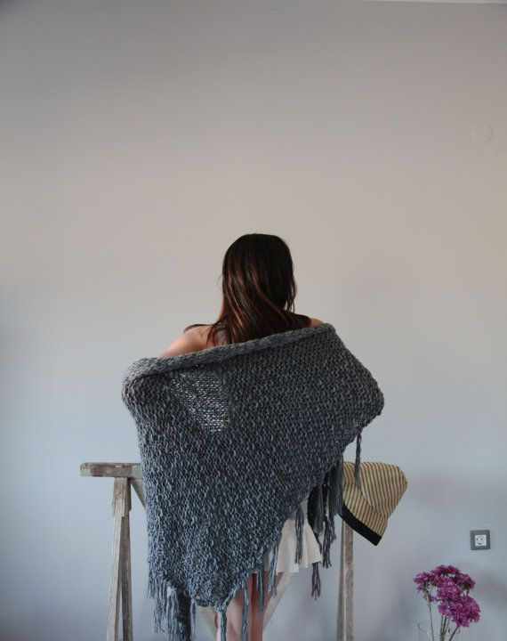 Gray knitted Lagenlook extra large beautiful by AnnaOhSailors