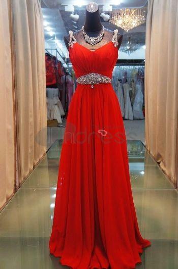 Abiti da Sera Eleganti-harness abiti da sera eleganti rossi vita