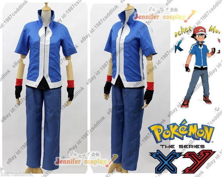 New Pokemon X&Y XY Ash Ketchum Cosplay Costume Any Size