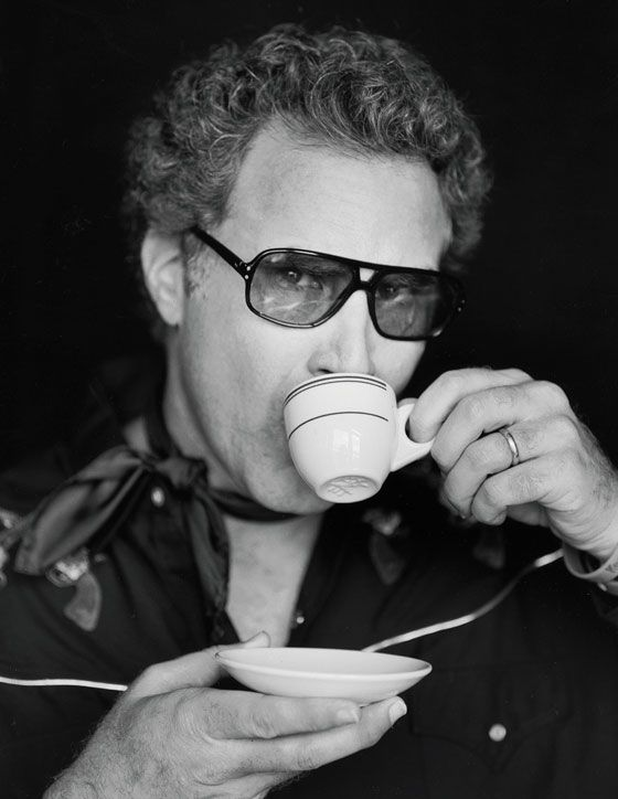 Will Ferrell being sauve & drinking expresso. LOL