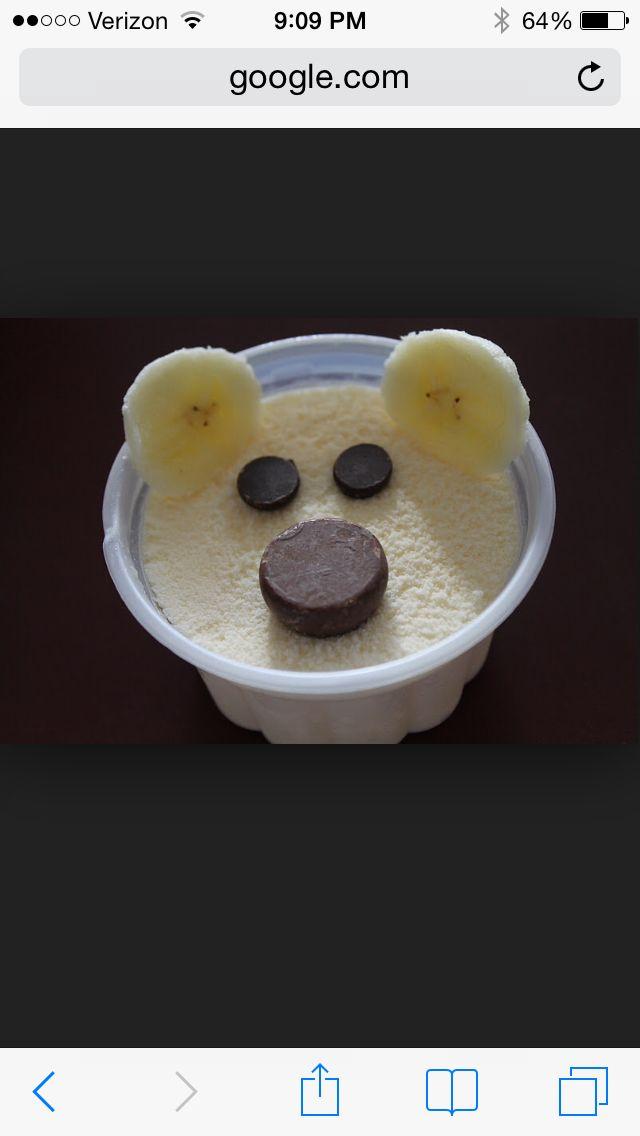 Polar bear ice cream cups