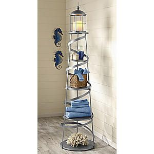 Alexandria Lighthouse Shelf. Love this for my nautical bathroom!