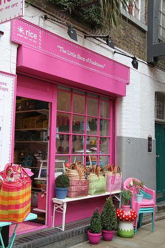 """The Little Shop of Funkiness"" & their fabulous pink store front <3"