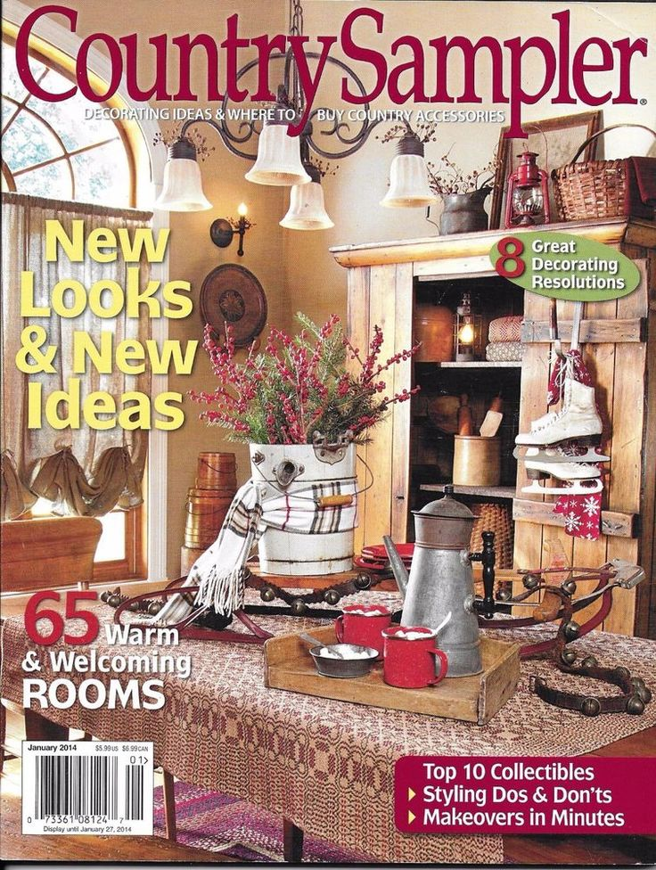 Country sampler magazine warm rooms top 10 collectibles