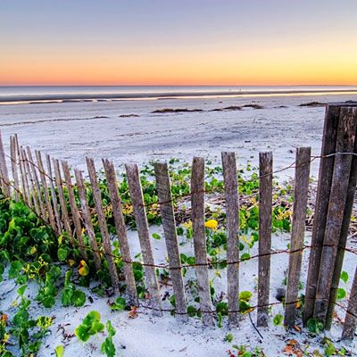 Islanders Beach   Hilton Head Island, South Carolina  Hilton Head's eastern shore is 12 miles of white sand. As its name suggests, this beach is loved by locals because it's less crowded than most and swimmer-friendly, thanks to its gentle underwater slope. There's also a playground and a shady picnic area behind the dunes