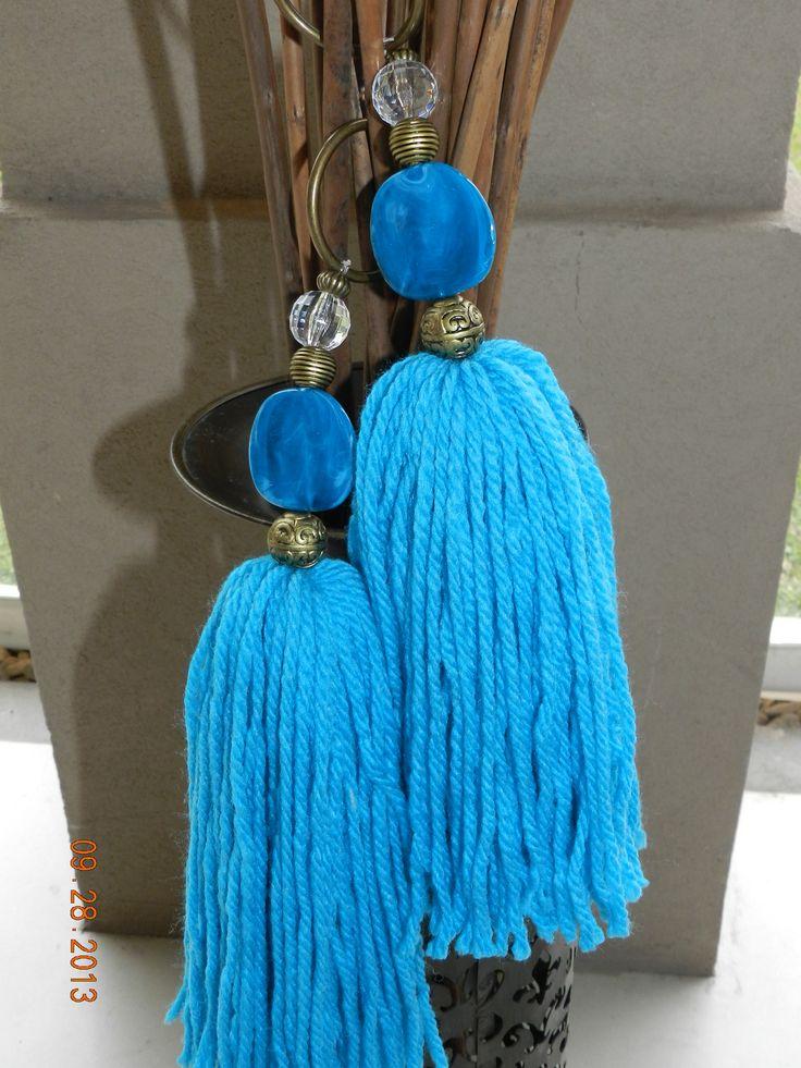 turquoise tassels