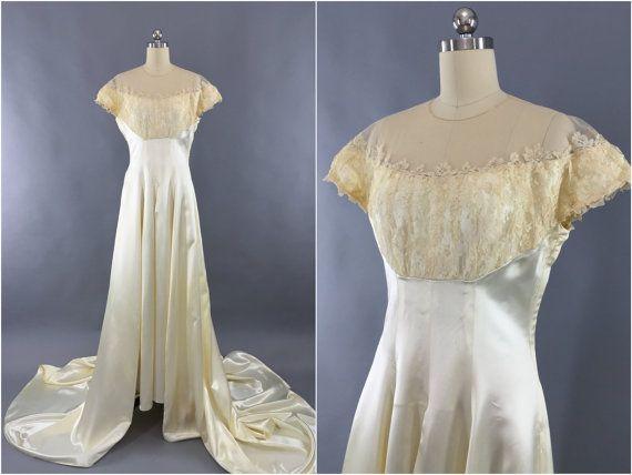 Robe de mariée Vintage des années 1940 / 40 s 50 s par ThisBlueBird